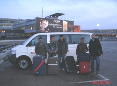 On time in Berlin on the Berlinale - Students team 2 from Kathmandou (Nepal) coached by Samer Baydoun from Aleppo, Syria  Berlin February 2, 2011