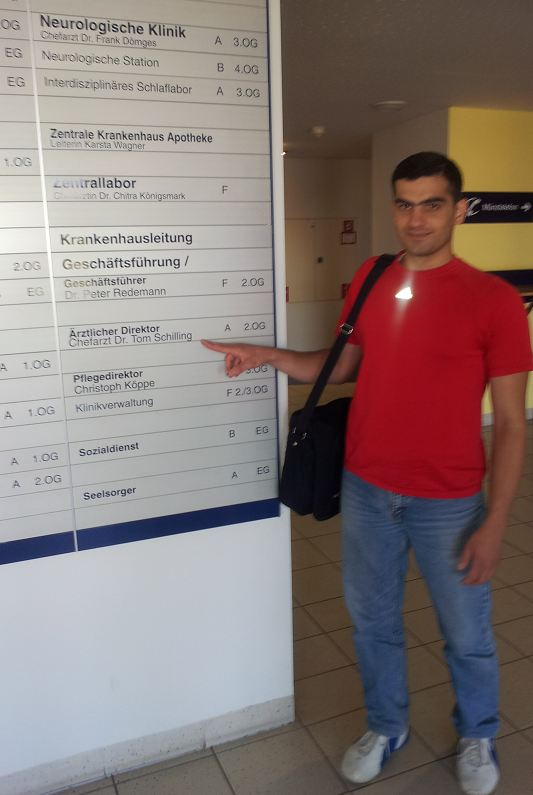 Graduated in Krasnodar in Russia, worked in Syria - physician with German approbation in specialization in internal medicine now. Mr M.Hussam Kattan from Aleppo in Syria. Arrival at the Harz-hospital Wernigerode. Thank you for this chance! July 23, 2012